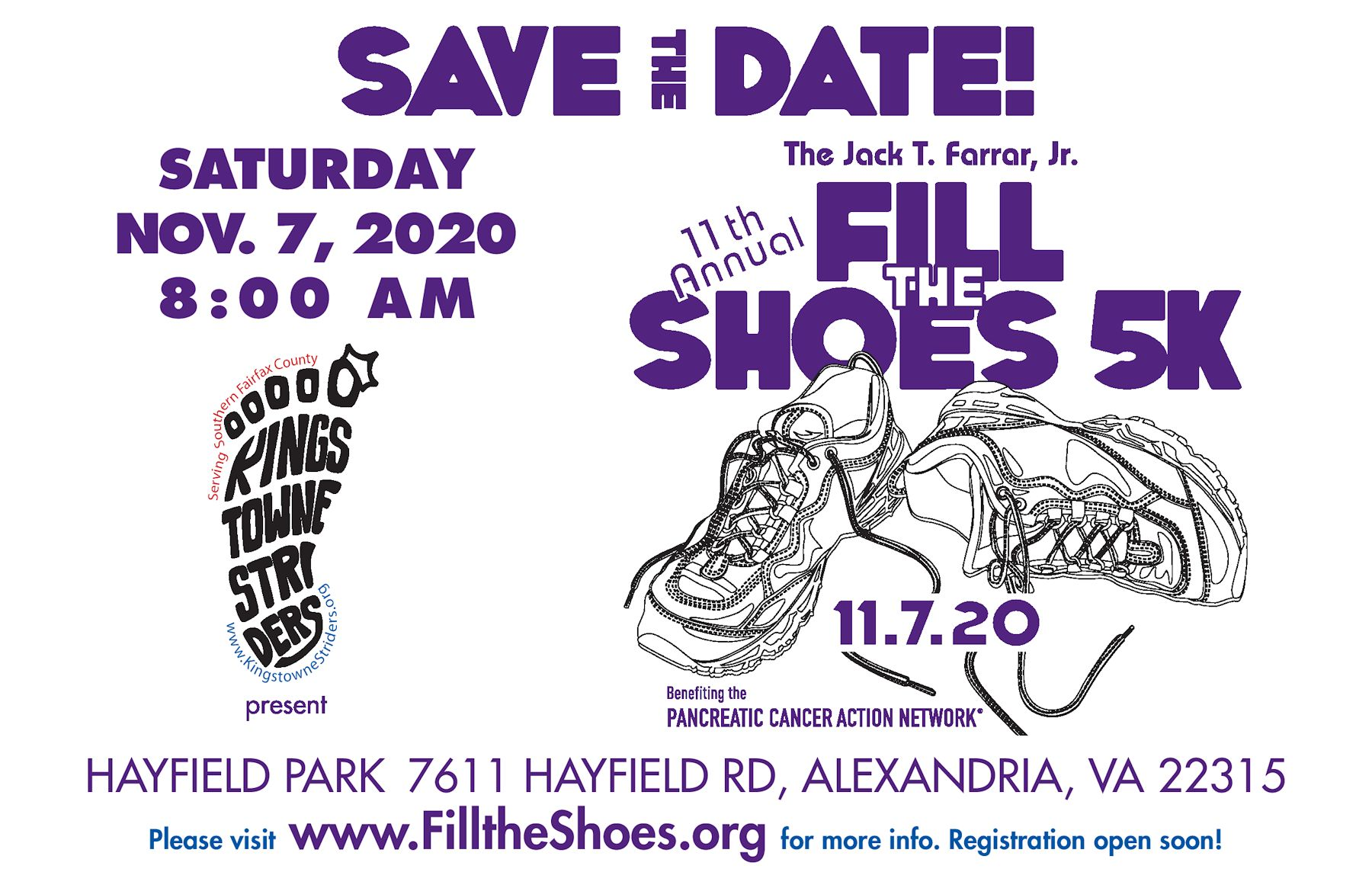 Fill The Shoes 5k - Save The Date