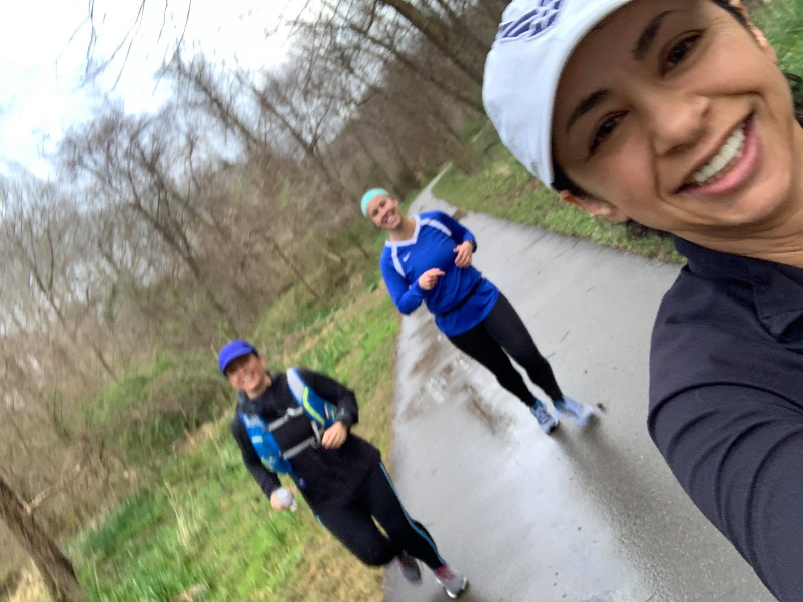 Sandra Running with Valerie and Derya